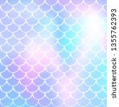 mermaid scales background with... | Shutterstock .eps vector #1355762393