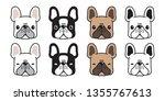 dog vector french bulldog head...   Shutterstock .eps vector #1355767613