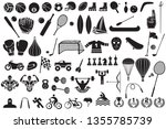 big collection of sport icons ... | Shutterstock .eps vector #1355785739