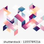 geometric design. bright... | Shutterstock .eps vector #1355789216