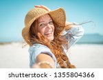 portrait of beautiful mature... | Shutterstock . vector #1355804366