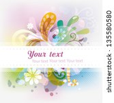 abstract colorfull background. | Shutterstock .eps vector #135580580