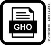 gho file document icon  | Shutterstock .eps vector #1355811566