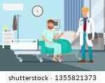 after surgery observation flat...   Shutterstock .eps vector #1355821373