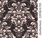 vector damask seamless pattern... | Shutterstock .eps vector #1355821733