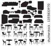 silhouette furniture set | Shutterstock .eps vector #1355833970