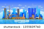 rotterdam the netherlands... | Shutterstock .eps vector #1355839760