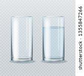 realistic water glass. empty... | Shutterstock .eps vector #1355847266