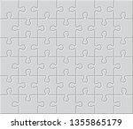 white jigsaw puzzle. blank...   Shutterstock .eps vector #1355865179