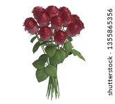 flowers 3d illustration... | Shutterstock . vector #1355865356