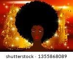 portrait african women   dark...