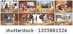people in the photostudio... | Shutterstock .eps vector #1355881526