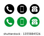 phone icon vector. phone glyph... | Shutterstock .eps vector #1355884526