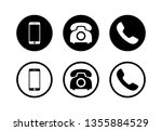 phone icon vector. phone glyph... | Shutterstock .eps vector #1355884529