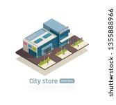 store mall shopping center... | Shutterstock .eps vector #1355888966