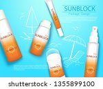 top view sunplock sun... | Shutterstock .eps vector #1355899100