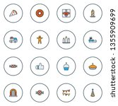 year icons colored line set... | Shutterstock .eps vector #1355909699