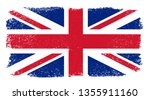 grunge flag of united kingdom | Shutterstock .eps vector #1355911160