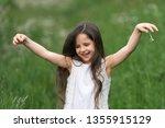 portrait of a beautiful little... | Shutterstock . vector #1355915129