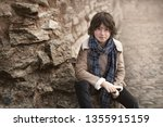 portrait of a handsome and... | Shutterstock . vector #1355915159