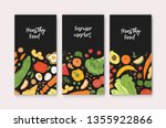set of vertical banner... | Shutterstock .eps vector #1355922866