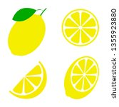 fresh and juicy lemon with... | Shutterstock .eps vector #1355923880