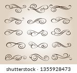 set of elegant decorative... | Shutterstock .eps vector #1355928473