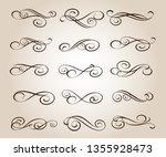 set of elegant decorative... | Shutterstock .eps vector #1355928473