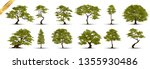 collection  realistic  trees... | Shutterstock .eps vector #1355930486