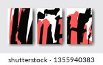 cool vector bright poster set... | Shutterstock .eps vector #1355940383