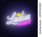 Ladies Night Neon Lettering On...