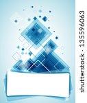 blue technology background....   Shutterstock .eps vector #135596063