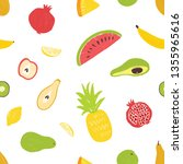 summertime seamless pattern... | Shutterstock .eps vector #1355965616