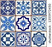 blue portuguese tiles pattern   ...   Shutterstock .eps vector #1355972450
