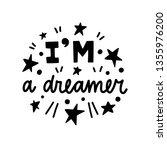 i am a dreamer. vector... | Shutterstock .eps vector #1355976200