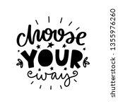 choose your way. vector...   Shutterstock .eps vector #1355976260