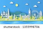 nature landscape of london city ... | Shutterstock .eps vector #1355998706