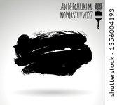 black brush stroke and... | Shutterstock .eps vector #1356004193
