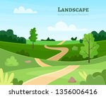 nature park or forest outdoor... | Shutterstock .eps vector #1356006416
