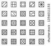 chladni figures  nodal patterns  | Shutterstock .eps vector #1356011153