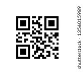 simple qr code icon | Shutterstock .eps vector #1356015989