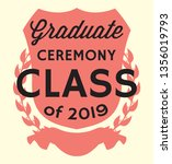 graduation vector class of 2019 ... | Shutterstock .eps vector #1356019793