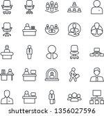 thin line icon set   reception...   Shutterstock .eps vector #1356027596