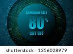 blue circle layer ramadan sale... | Shutterstock .eps vector #1356028979