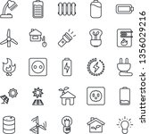 thin line icon set   bulb... | Shutterstock .eps vector #1356029216