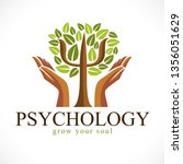 psychology concept vector logo... | Shutterstock .eps vector #1356051629