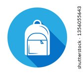 backpack icon with long shadow. ... | Shutterstock . vector #1356055643