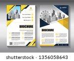 brochure design  cover modern... | Shutterstock .eps vector #1356058643