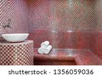traditional turkish hamam with... | Shutterstock . vector #1356059036