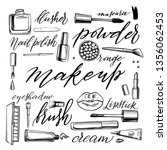 black and white cosmetics... | Shutterstock .eps vector #1356062453